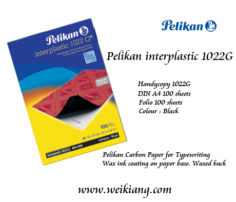 Pelikan Interplastic 1022G Carbon 100's