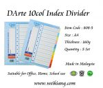 DArte 10col Index Divider (Paper)