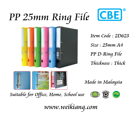 CBE 2D623 PP D-Ring File 25mm A4