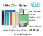 CBE 359A A4 Clear Holder
