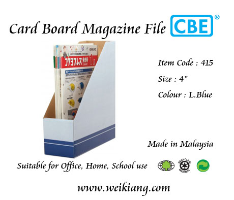 Card Board Magazine File 415