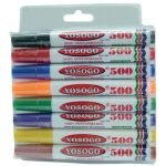 Yosogo 500 Whiteboard Marker (Fine)(8 Colour)