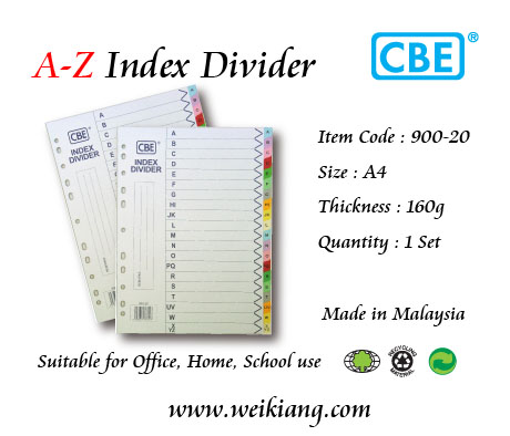 CBE A-Z Index Divider (Paper)(Thick)