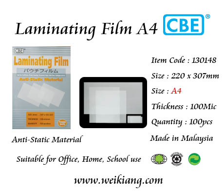 CBE Laminating Film A4