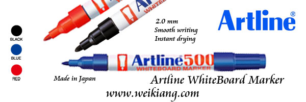 Artline 500 WhiteBoard Marker (Blue/Black/Red)