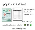 "1ply 3"" x 5"" Bill Book"