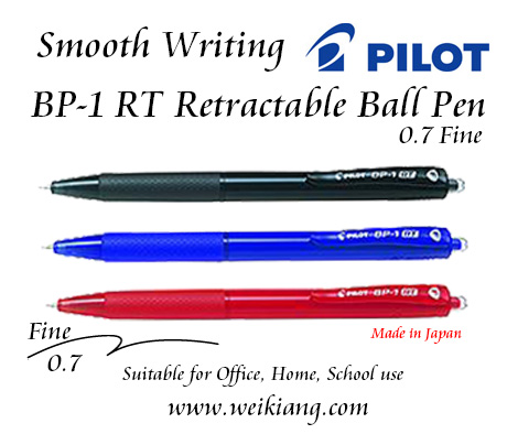 Pilot BP-1 RT Retractable 0.7 Fine Ball Pen