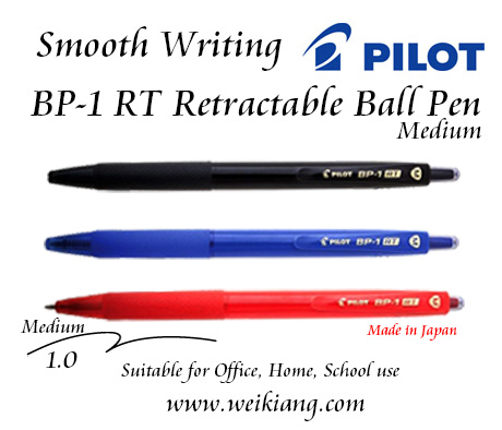 Pilot BP-1 RT Retractable 1.0 Medium Ball Pen