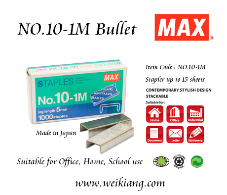 MAX NO.10-1M STAPLES