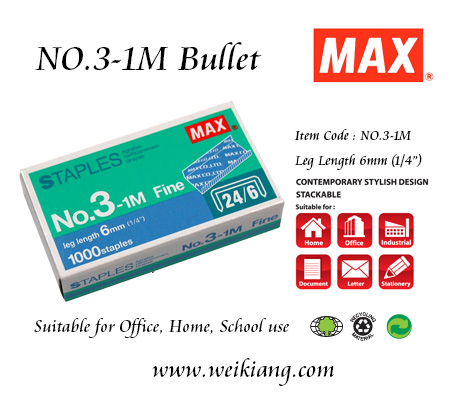 MAX NO.3-1M STAPLES