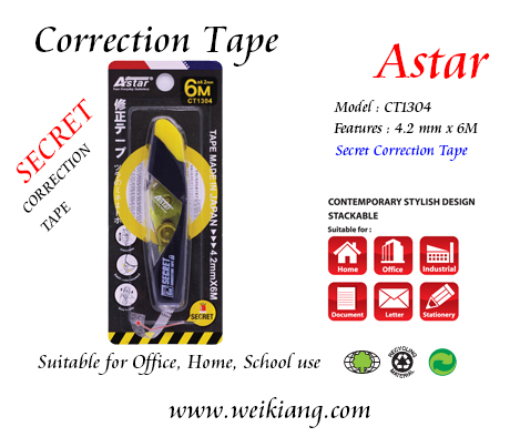 CT1304 Astar Correction Tape 4.2mm x 6M
