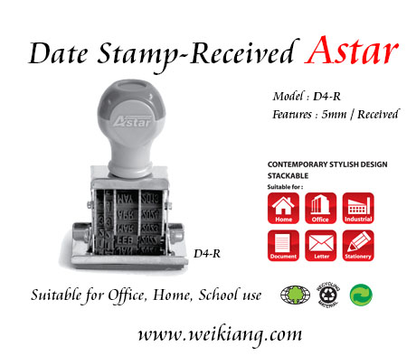 Received D4-R Astar Date Stamp