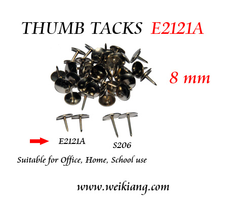 E2121A Thumb Tacks 8mm