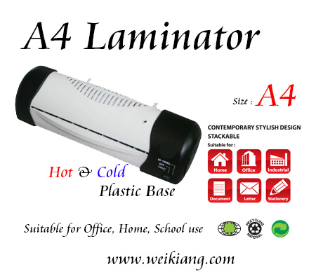 A4 Laminating Machine - Plastic Base