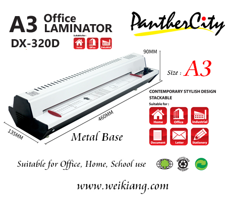 Panther City A3 Laminating Machine - Metal Base