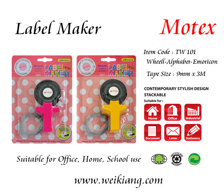 Motex TW-101 Lavel Maker- Small