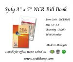 "3ply 3"" x 5"" NCR Bill Book With Number"