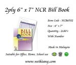 "2ply 6"" x 7"" NCR Bill Book With Number"