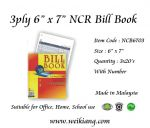 "3ply 6"" x 7"" NCR Bill Book With Number"