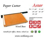 Paper Cutter - Wood Base - All Size