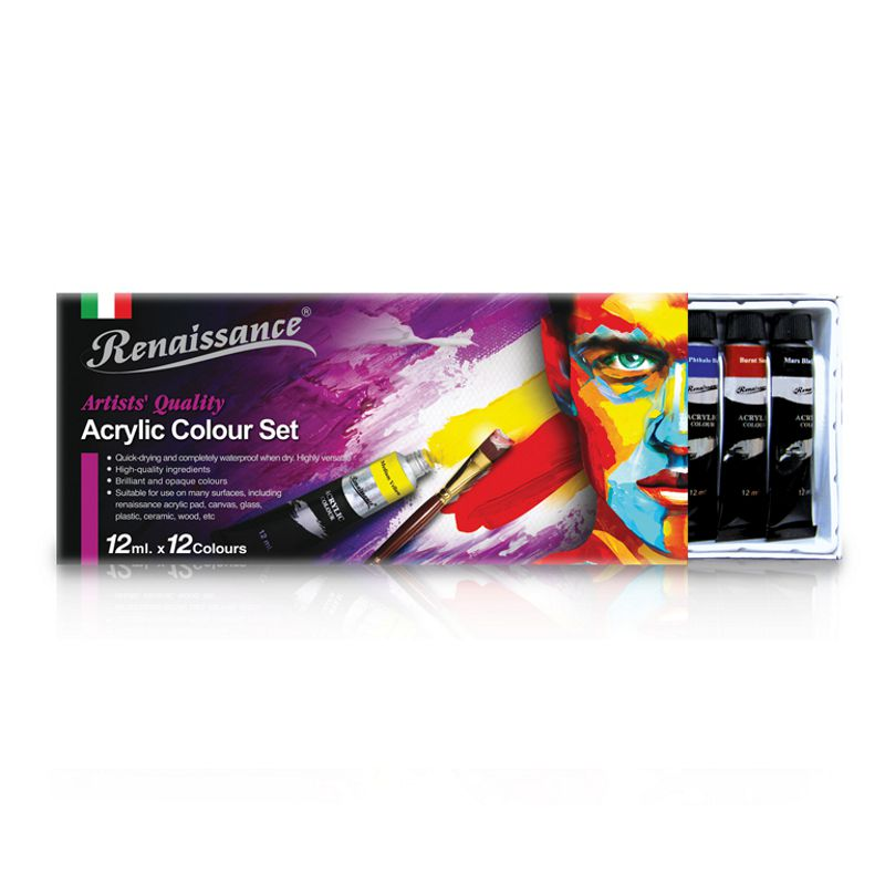 RNS Acrylic Colour 12col x 12ml