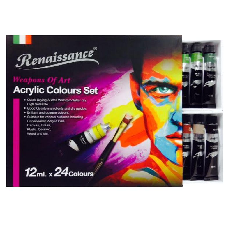 RNS Acrylic Colour 24col x 12ml