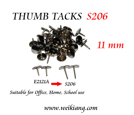S206 Thumb Tacks 11mm