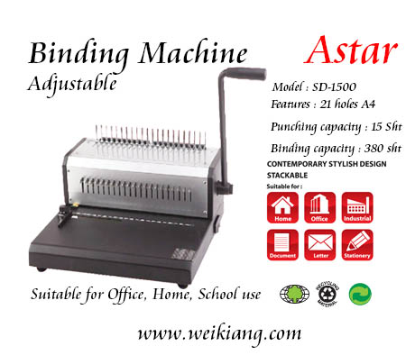 AStar SD-1500 Binding Machine Adjustable