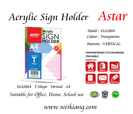 SSA2884 Astar Acrylic A4 Sign Holder