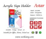 SSA2884 Astar Acrylic Sign Holder
