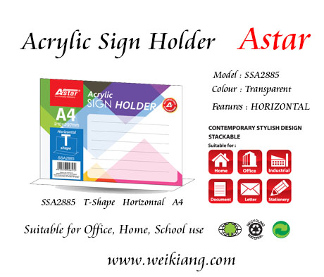 SSA2885 Astar Acrylic A4 Sign Holder