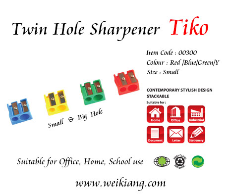 Tiko 00300 Sharpener (Twin Hole)