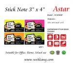 "Astar 3 x 4"" Fluorescent Colour Note Sticker"