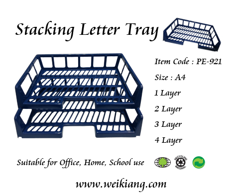 PE-921 Stacking Letter Tray (Horizontal)