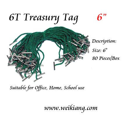 6T Treasury Tag 6""