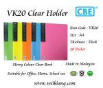 CBE VK20 Merry Colour Clear Holder A4