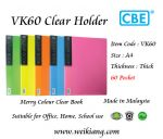CBE VK60 Merry Colour Clear Holder A4