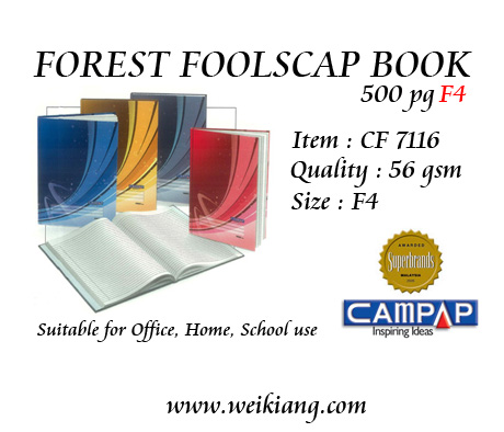 Forest 500p F4 Foolscap Book CF7116