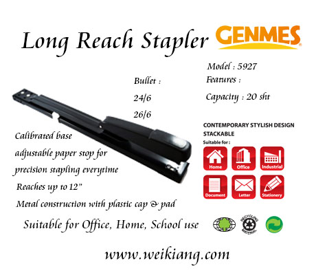 Genmes 5927 Long Reach Stapler