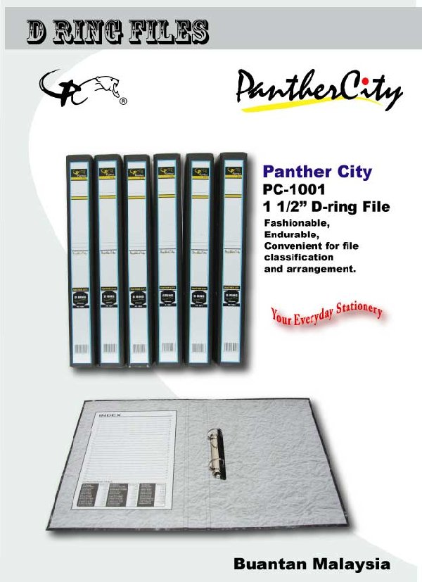 "PANTHER CiTY 1.5"" PC1001 D Ring File"