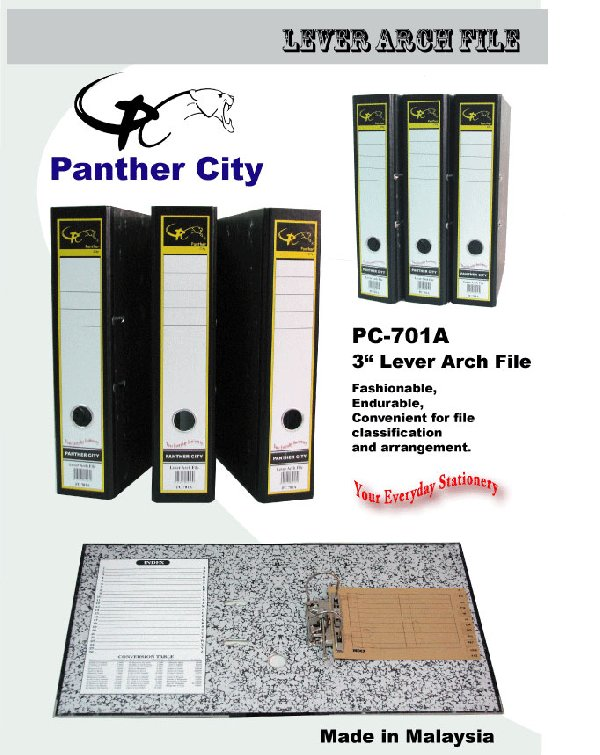 "PANTHER CiTY 3"" PC701A Level Arch File"
