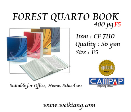 Forest 400p Quarto Book CF7110